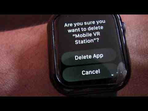 How do I delete apps on my Apple watch but not my phone?